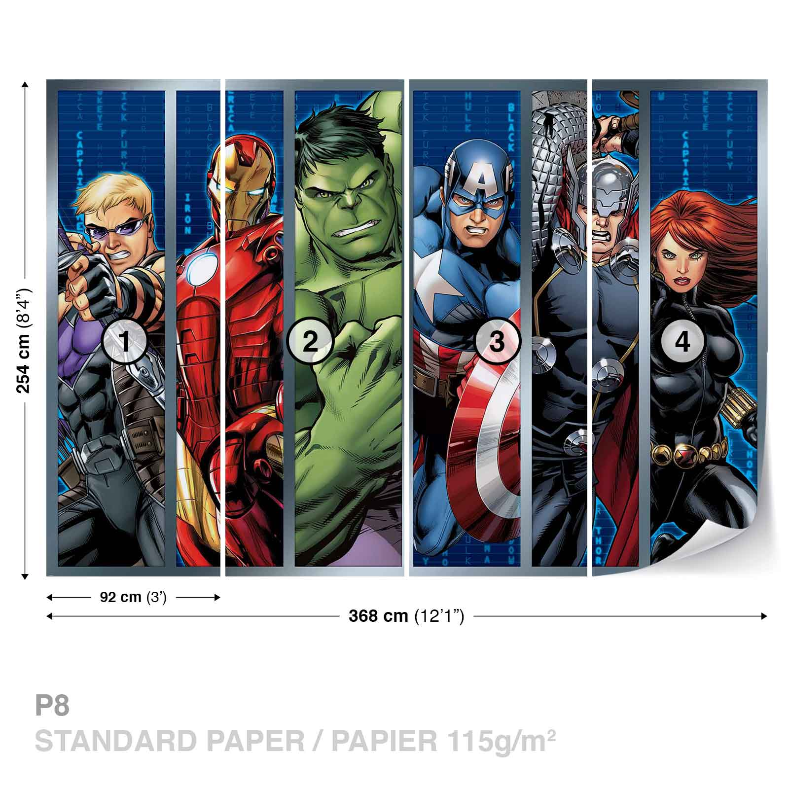 Avengers Boys Bedroom Wall Murals For Wall